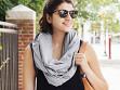 2-in-1 Travel Pillow Infinity Scarf - Case of 10