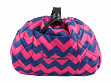 Deluxe Makeup Case - Pink Chevron