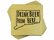 Drink Beer From Here Coaster - Connecticut - Case of 6