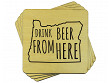 Drink Beer From Here Coaster - Oregon - Case of 6