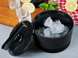 Cooling Ceramic Ice Bucket with Lid & Tongs - Case of 6