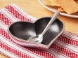 Heart Shaped Dish with Spoon - Silver