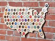 Beer Cap Map of USA - Case of 4
