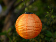 Soji Solar Nylon Lantern - Orange