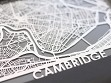 Stainless Steel City Maps (5 x 7) - Cambridge