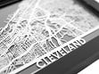 Stainless Steel City Maps (5 x 7) - Cleveland