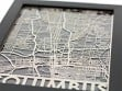 Stainless Steel City Maps (5 x 7) - Columbus