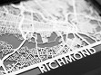 Stainless Steel City Maps (5 x 7) - Richmond