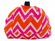 Patterned Makeup Case - Pink/Orange Chevron