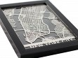 Stainless Steel City Maps (5 x 7) (5 x 7) - New York City
