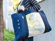 Custom Nautical Oversized Beach Tote - Case of 2