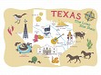 Texas Icons Kitchen Towel - Case of 12