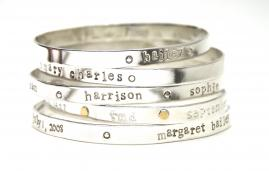 Perfect Mother's Day Gift Bespoke Bangle