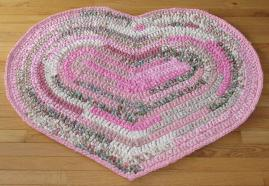 Hand Crocheted Cotton Fabric Rag Rugs