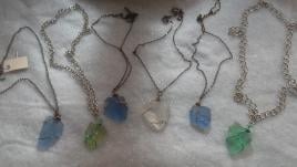 handmade seaglass necklaces $15.00 each