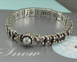 Braille alphabet bracelet