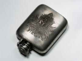 Poseidon pewter flask