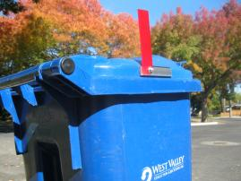 Trash-at-a-Glance waste bin flag
