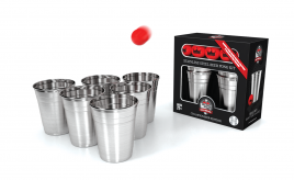 Stainless Steel Beer Pong Kit