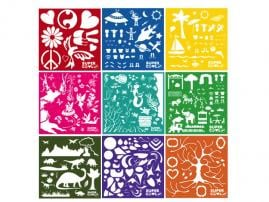 SuperCool Art Themed Stencil Sets