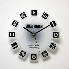 Web2.0 Feature Wall Clock