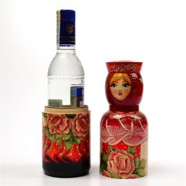Russian Craft Nesting Dolls & Bottle Holders