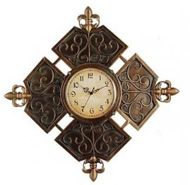 "20""Antique Rhomb Designed Wall Clock in Metal"