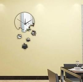 Big Discount DIY Creative Wall Clock in Mirror Face