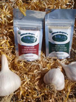 Heirloom Garlic Infused Celtic Grey and Smoked Alderwood Salt