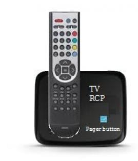 TV remote control pager