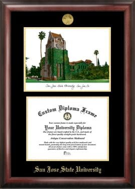 Custom Made University Diploma Frames