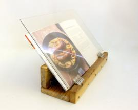 Hand crafted cook book display