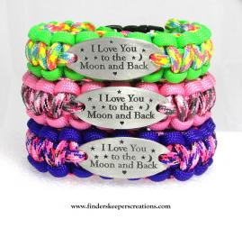 """""""I LOVE YOU TO THE MOON AND BACK"""" CHARM TAG BRACELET"""