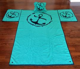 Anchor T-Towel and Pillow (case)
