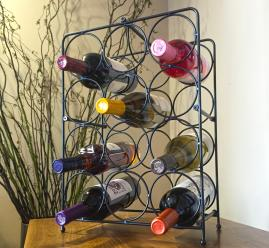 Napoli 12 Bottle Metal Wine Rack