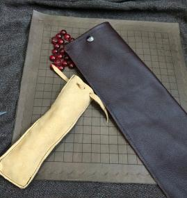 Leather Roll up Pente Board
