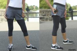 SHORTLETS - Layered Leggings/Shorts with Zippered Pockets