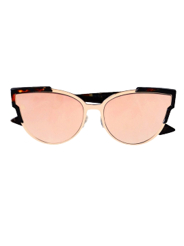 Slay - Rose Gold / Marble Espresso Mirror Reflective Sunglasses