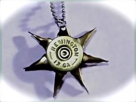 Shotgun sun necklace