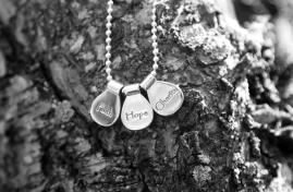 Faith-Hope-Charity Sterling Silver HandCrafted Necklace