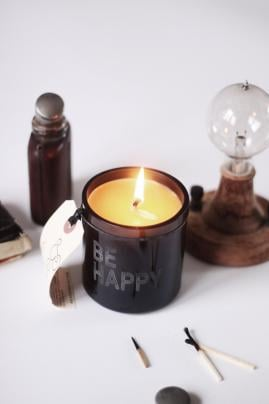 Be Happy Beeswax Candle