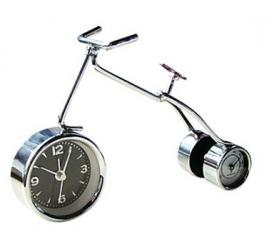 Modern Style Bicycle Alarm Clock with Thermometer
