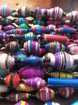 Handmade Paper bead jewelry from Uganda