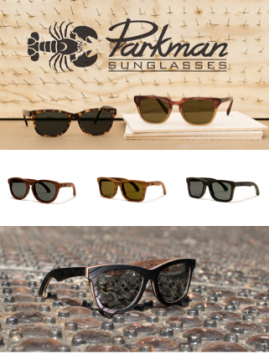 Handcrafted Vinyl and Wooden Sunglasses