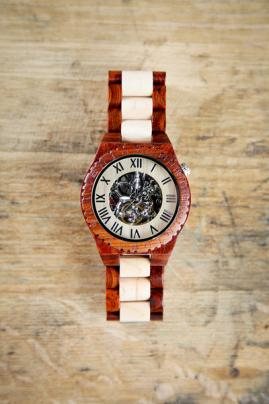 Steampunk Wooden Men's Watch