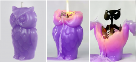 Angry Owl Candle