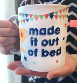 Out of Bed mug
