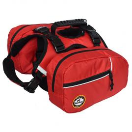 2 in 1 Service Dog Harness Saddlebags Backpack with 2 Removable Packs