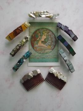 Art Noveau/Deco Hair Clips