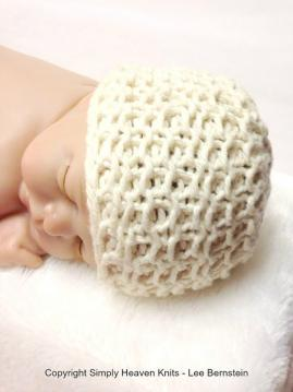 Organic Cotton Hand Knit Heirloom Baby Hat